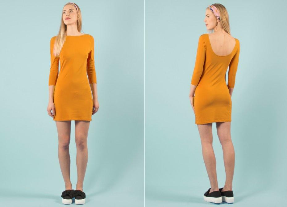 Robe Eros & Agape, modèle Lula, réversible, 100% coton bio et fabriquée en France.