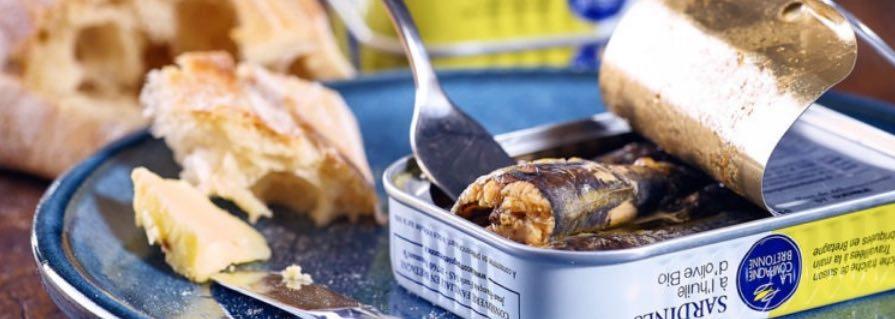 Sardines à l'huile made in France, par la Compagnie Bretonne.