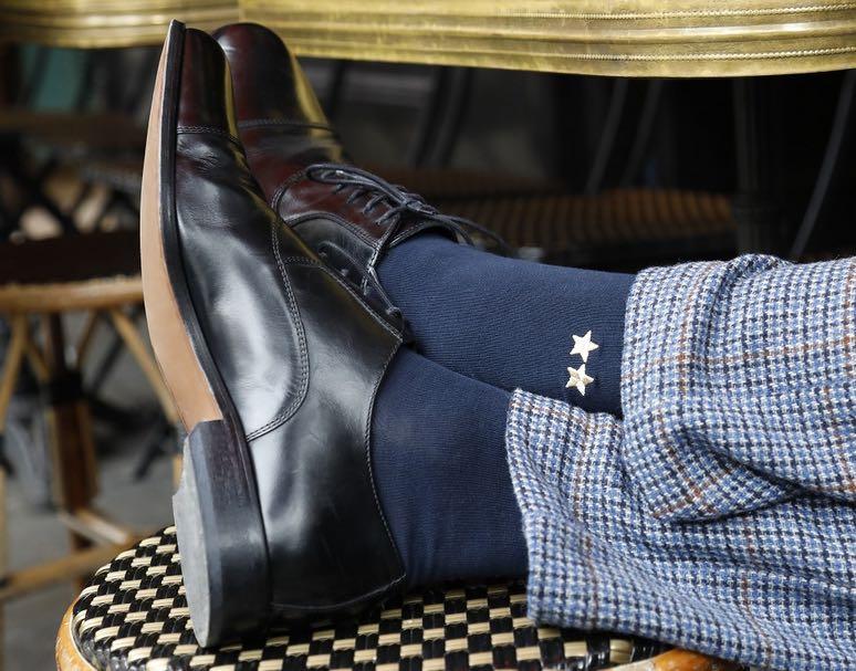 Personnalisation des chaussettes made in France, par Bleuforêt.