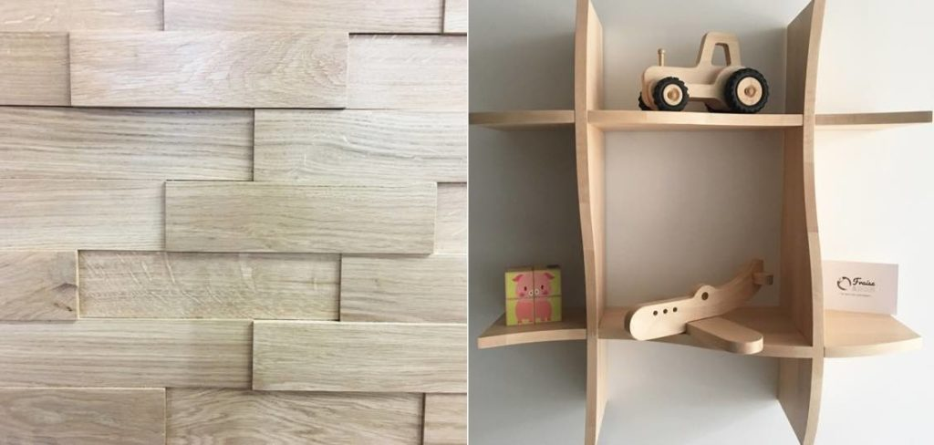 Fraise & Bois fabrique également en France des paremets de murs en bois et en MDF, ainsi que des étagères.