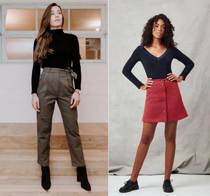 Jupes et pantalons en matériaux recycles Les Récupérables, fabriqués en France.