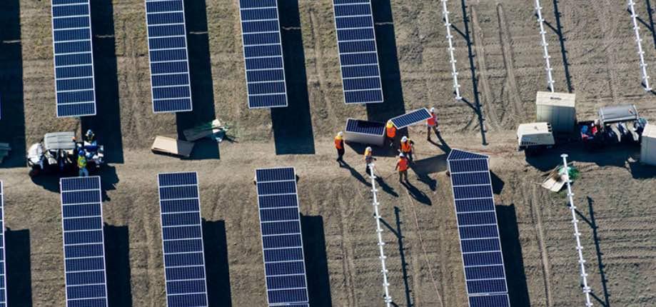 Panneaux solaires SunPower, filiale du groupe Total.
