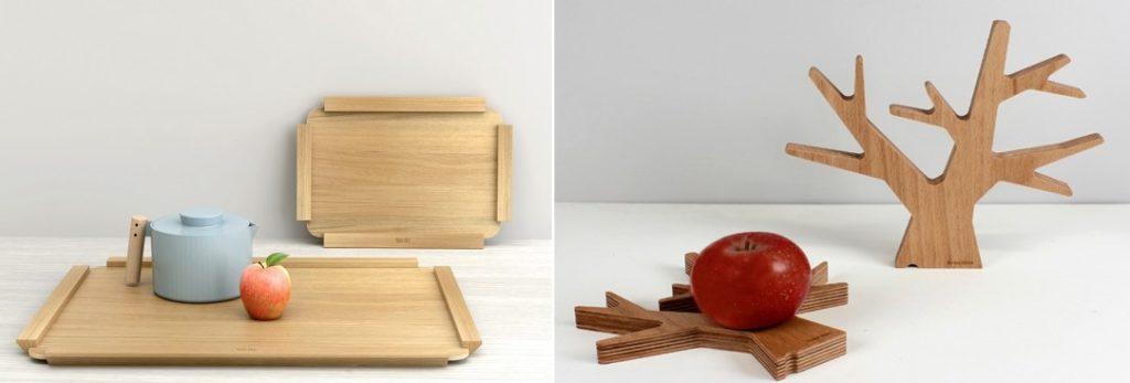 Plateaux et dessous-de-plats en bois, made in France, par Reine Mère.