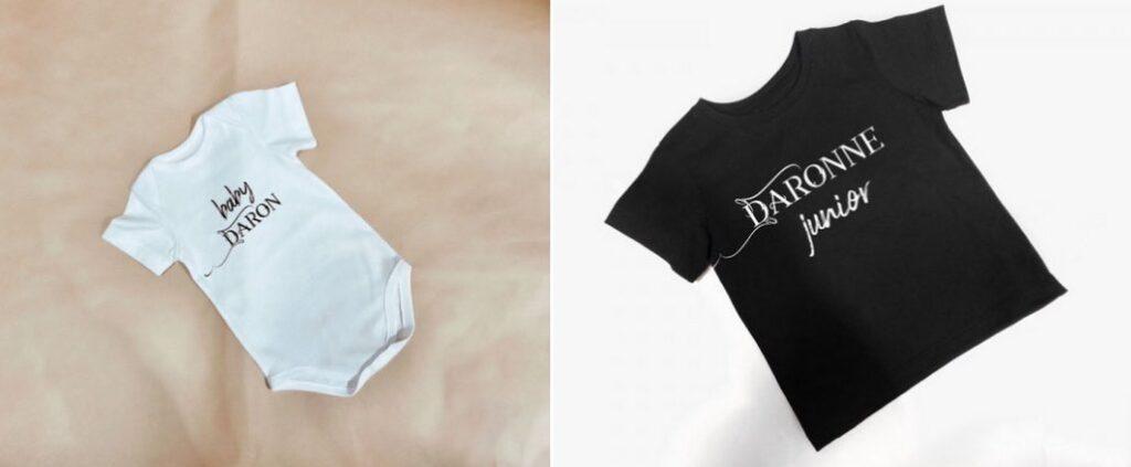 T-shirts et body enfant made in France, par Le Daron.