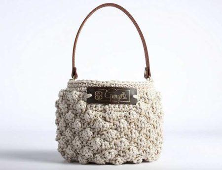 Sacs en crochet Geogetta, made in France.