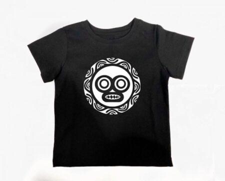 T-shirt enfant à motif tribal. 100% coton bio, fabriqué en France par Le Daron.
