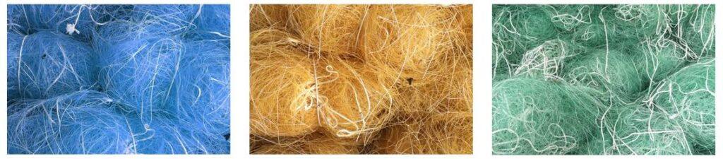 Le Nylo® est une matière plastique fabriquée à partir de filets de pêche recyclés.