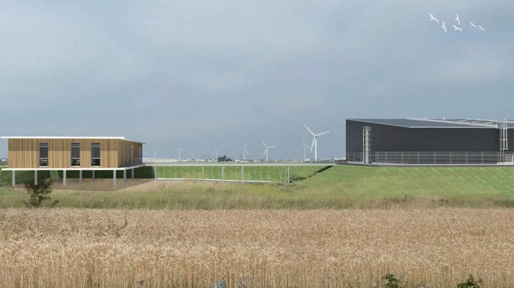 Future usine de Lhyfe, en Vendée.