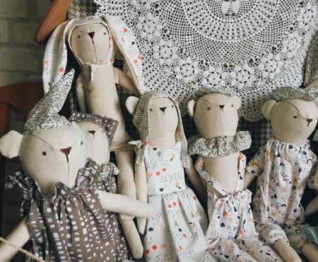Luna Room : poupées en tissu fabriquées en France.