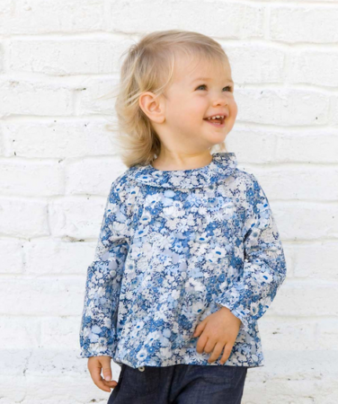 Blouse enfant made in France, Marie Puce.