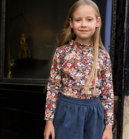 Chemise enfant en Liberty made in France, Marie Puce