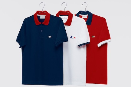 Polo Lacoste personnalisé et made in France.