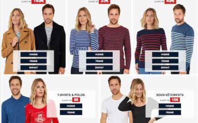 Vêtements made in France : braderie d'automne chez Armor-lux