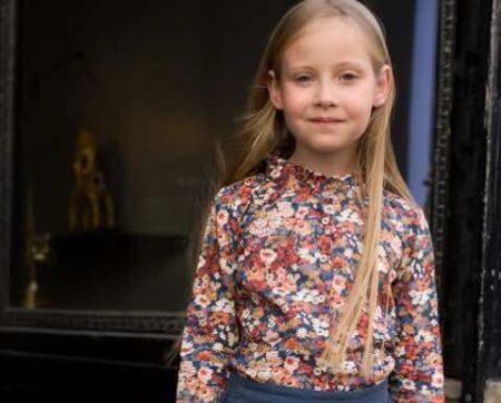 Marie Puce : blouse en Liberty fabriquée en France pour fillette