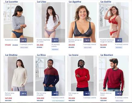 Le Coq et Le Slip : ventes privées made in France