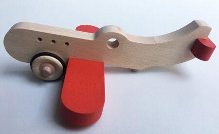 Avion en bois fabriqué en France par Fraise & Bois.
