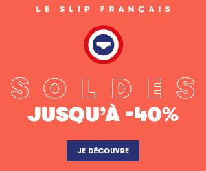 Soldes Le Slip Français, 100 % made in France.