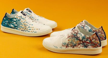 Sneaker Ector, tissu recyclé, made in France.