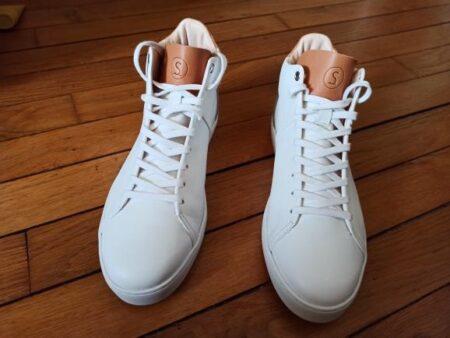 Les baskets en cuir Kauri sont fabriquées en France, par Sessile.
