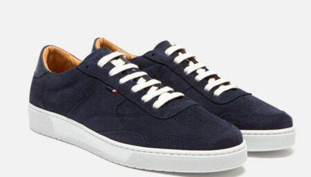 Sneakers cuir bleu marine made in France, Kost.