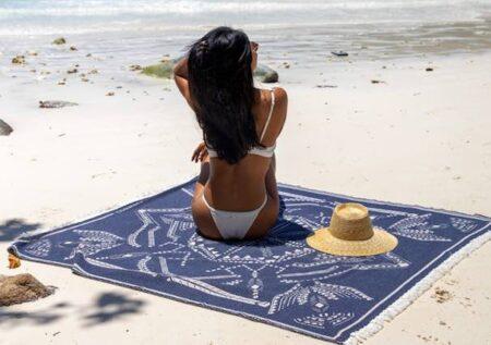 Drap de plage Cottesea, fabriqué en France.