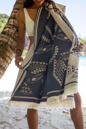 Cotteseau, drap de plage fabriqué en France.