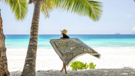 Drap de plage en coton, made in France, par Cottesea.
