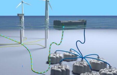 Plate-forme Remora de Segula, pour stocker de l'electricité en mer.