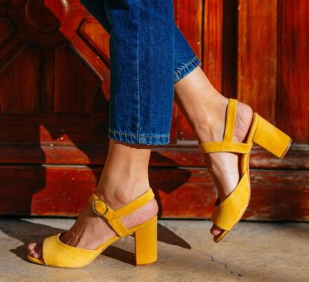 Sandales talon made in France, Un si beau pas.
