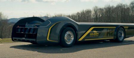 """Gaussin : châssis de camion électrique, ou """"skate-board""""."""