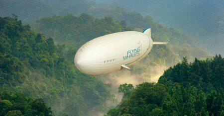 Flayng Whale : dirigeable de transport de fret, développé en bientôt fabriqué en France.