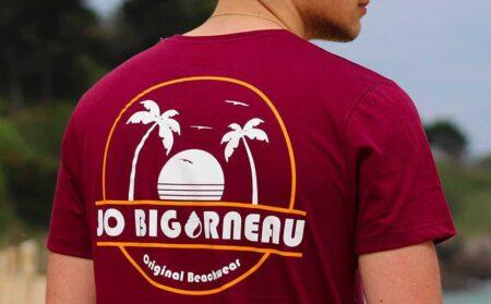T-shirt fabriqué en France, par Jo Bigorneau.