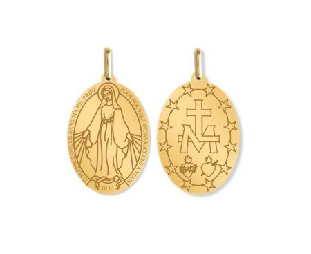 Médailles de baptême en or, fabriquées en France. Vendues sur Marmottine.fr