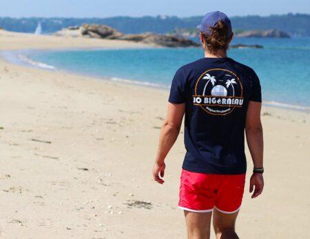 Jo Bigorneau, short de bain, t-shirt et casquette homme, made in France.