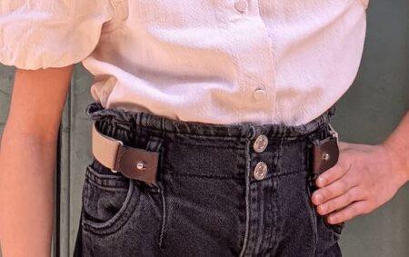 Libelté, ceinture enfant élastique sans boucle, made in France.