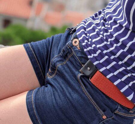 Libelté, ceinture femme élastique sans boucle, made in France.