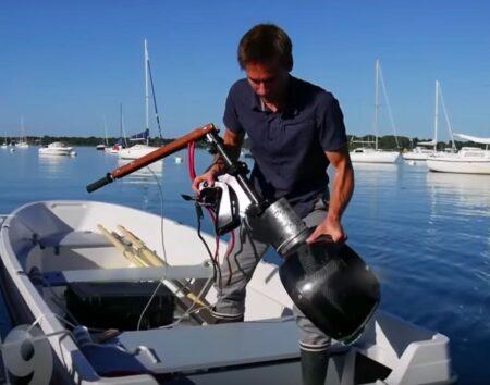 Le moteur électrique de bateau Rim6, fabriqué en Frnce par Hy-Generation, ne pèse que 12 kg.