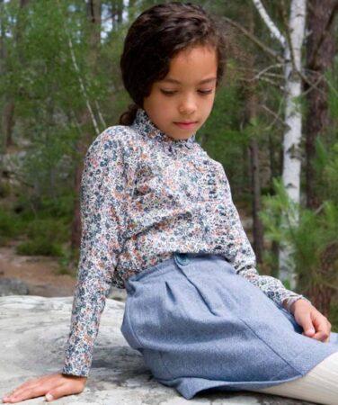Chemises enfant en Liberty bio, Marie Puce.