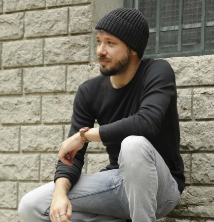 Tricots Marcel : t-shirts manches longues noir, fabriqué en France.