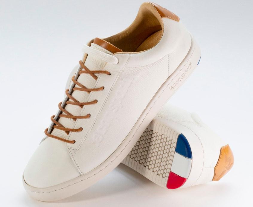 Blazon Casual du Coq Sportif : tennis cuir fabriquée en France.